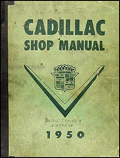 1950 Cadillac Repair Shop Manual Original Deville 61 62 60 Special Fleetwood 75