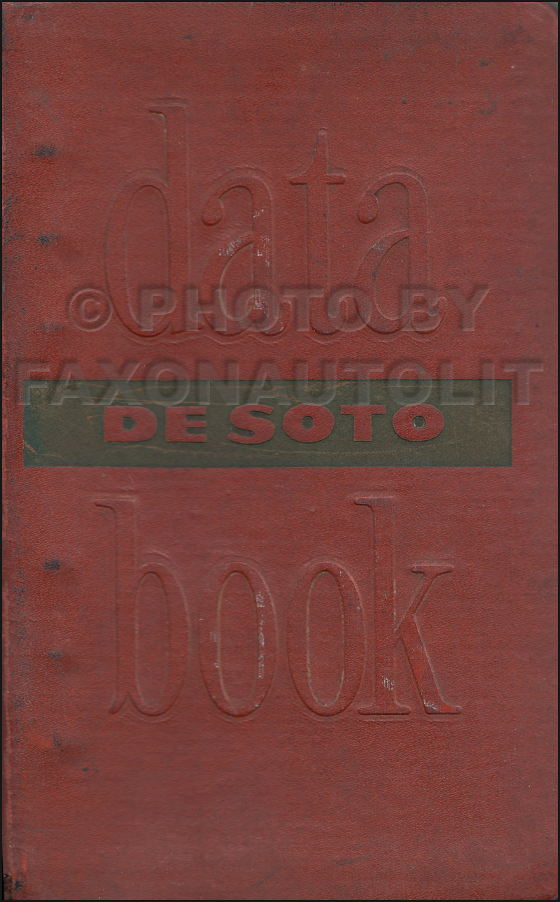 1950 DeSoto Data Book Original