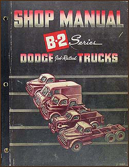 1950 Dodge Truck Shop Manual Original