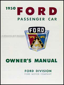 1950 Ford Car Owner's Manual Reprint