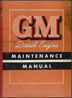 1950-1951 GMC Diesel Engine Repair Manual Original