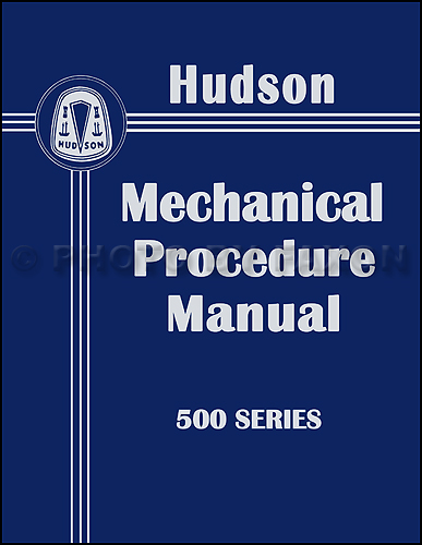 1950 Hudson Shop Manual Reprint