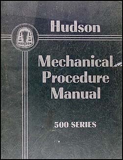 1950 Hudson Shop Manual Original Supplement