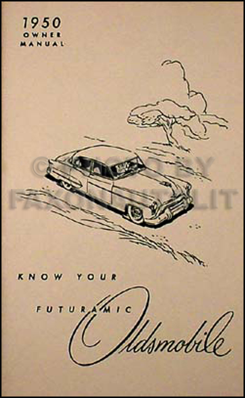 1950 Oldsmobile Owner's Manual Reprint