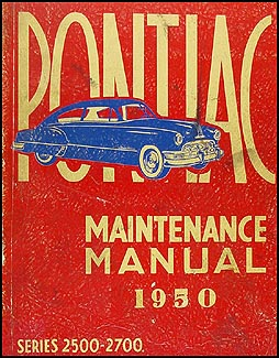 1950 Pontiac Repair Shop Manual Original (Canadian) Series 2500-2700