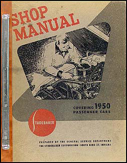 1950 Studebaker Car Shop Manual Original Champion Commander