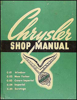 1951-1952 Chrysler complete Shop Manual Original