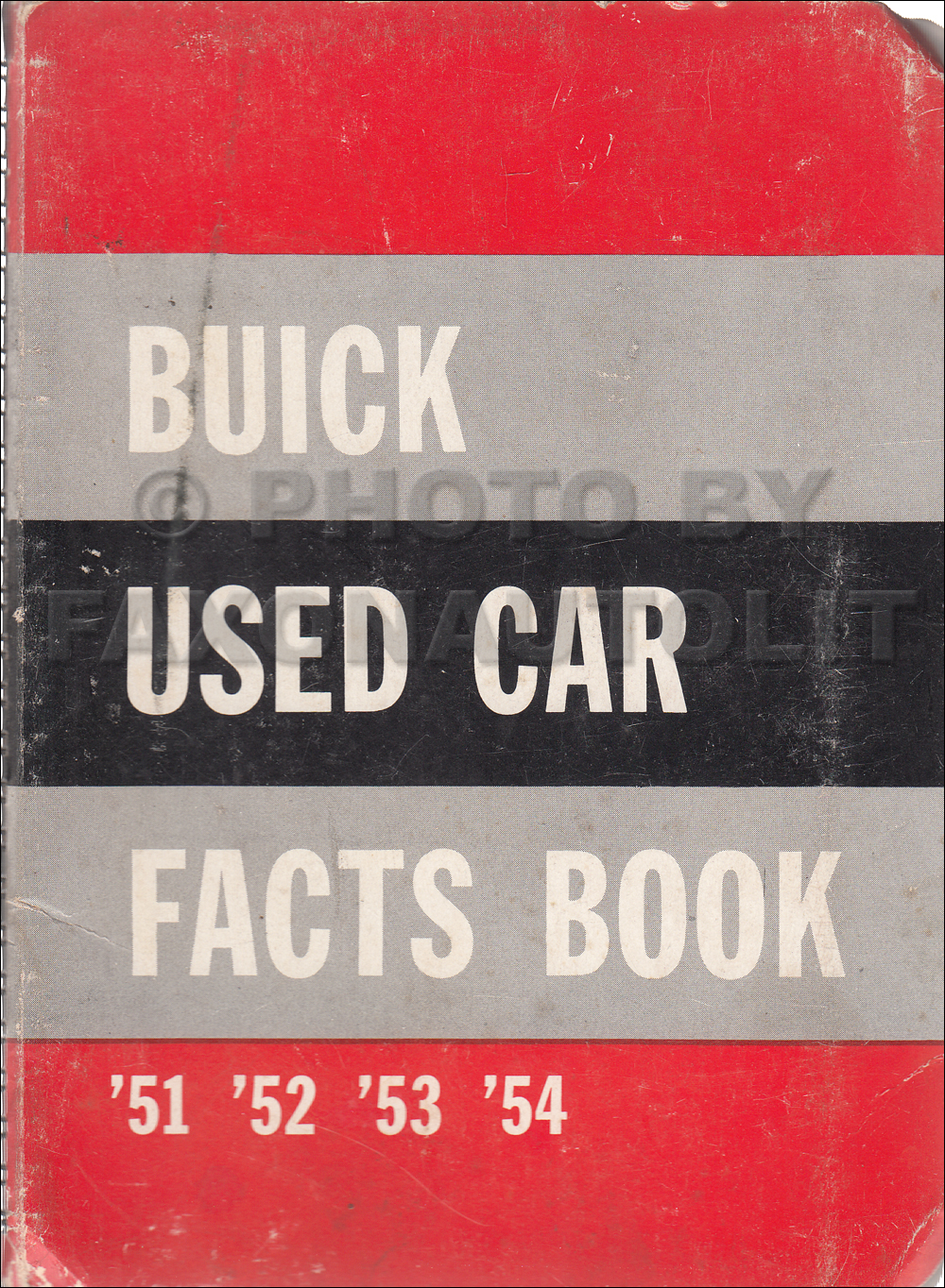 1951-1954 Buick Used Car Facts Book Original