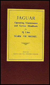 1951-1954 Jaguar Mark VII Owner's Manual Original