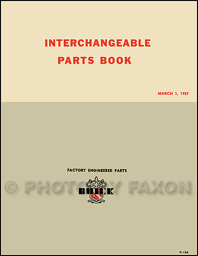 1951-1957 Buick and GM Parts Interchange Manual