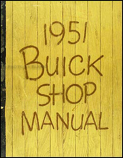1951 Buick Shop Manual Original