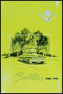 1951 Cadillac Data Book Original