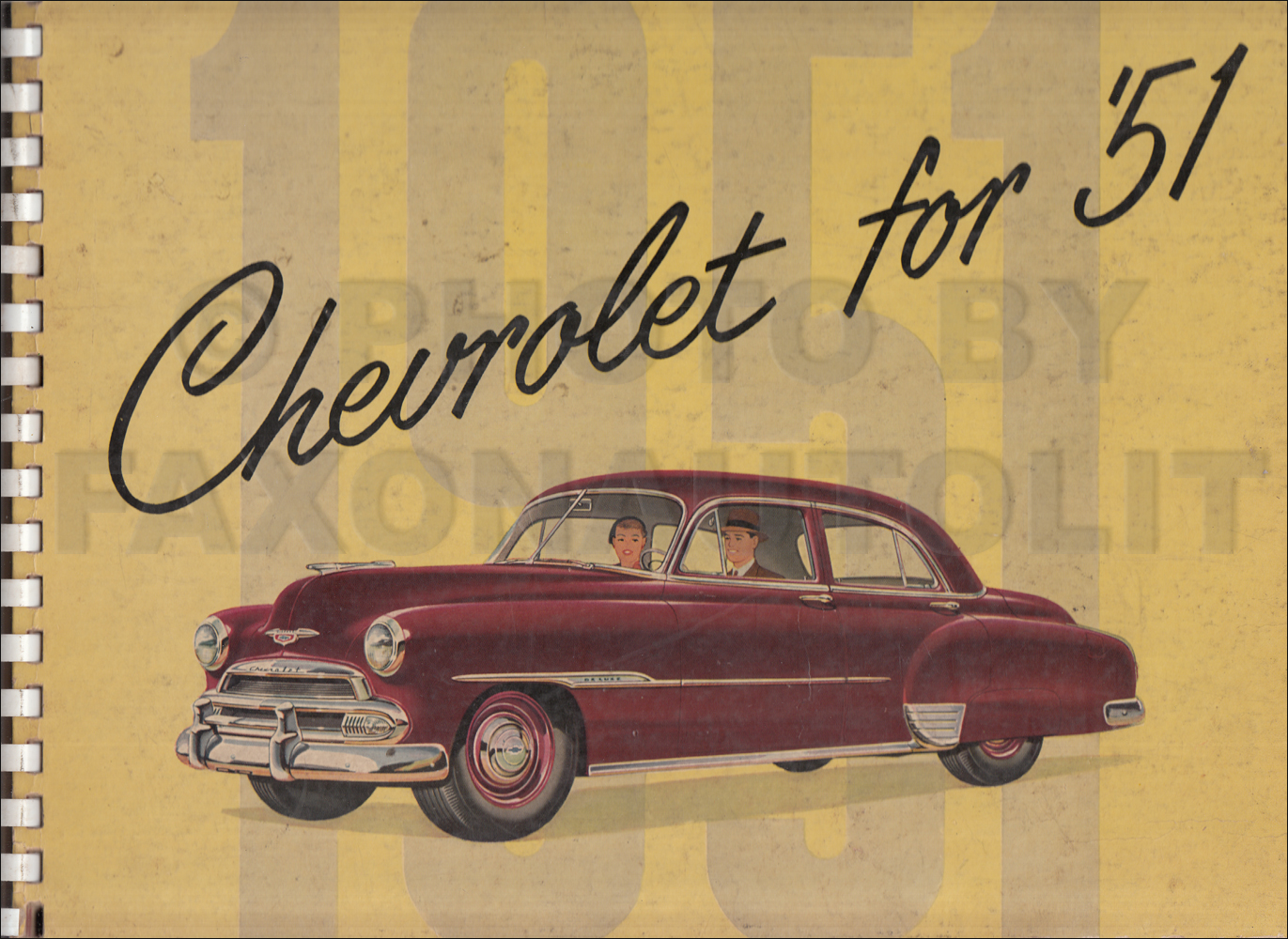 1951 Chevrolet Car Reprint Owners Manual 51 Chevy Sedan Delivery Dealer Album Original 44900