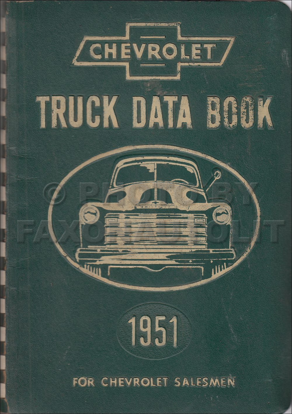 1951 Chevrolet Truck Data Book Original