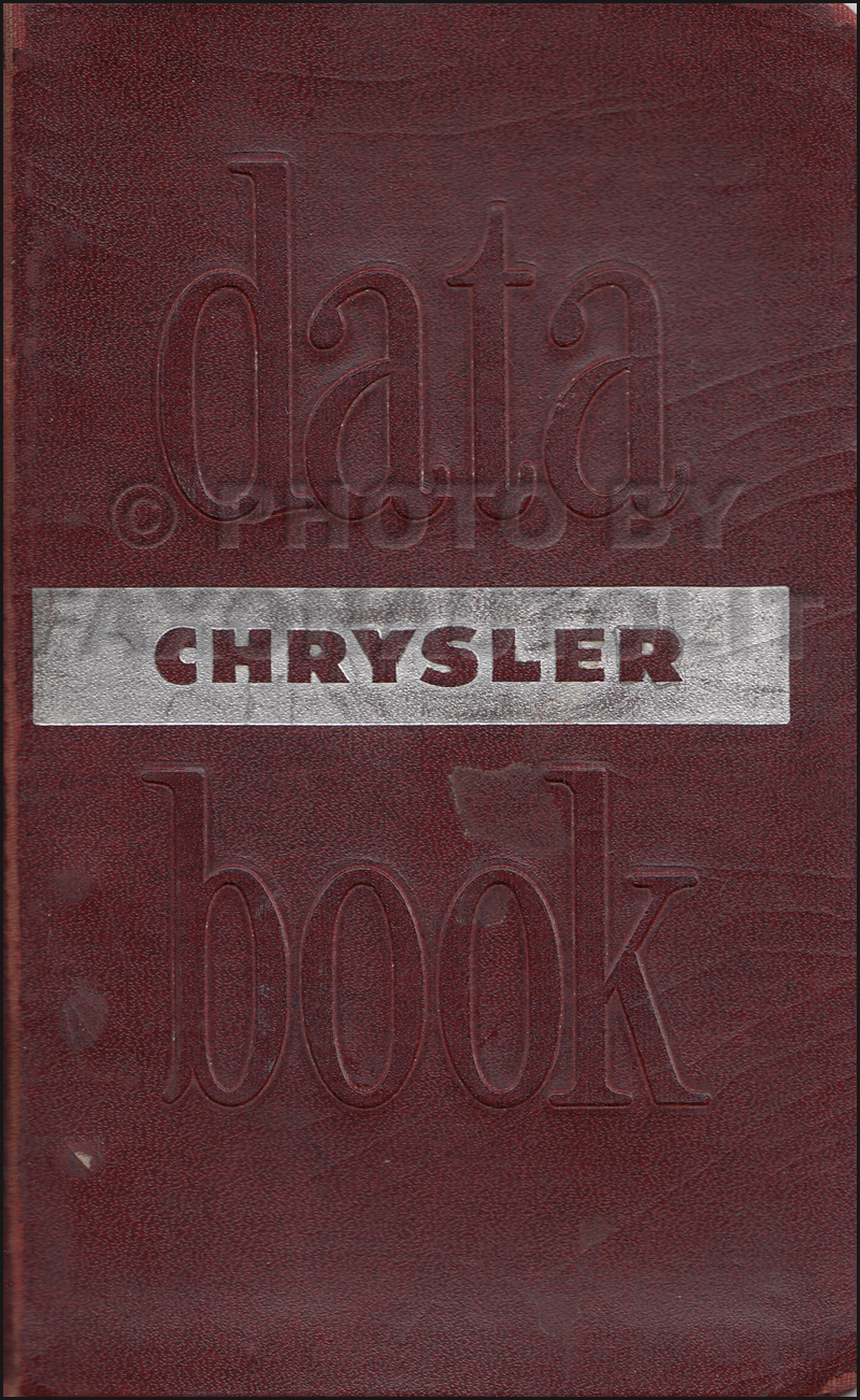 1951 Chrysler Data Book Original