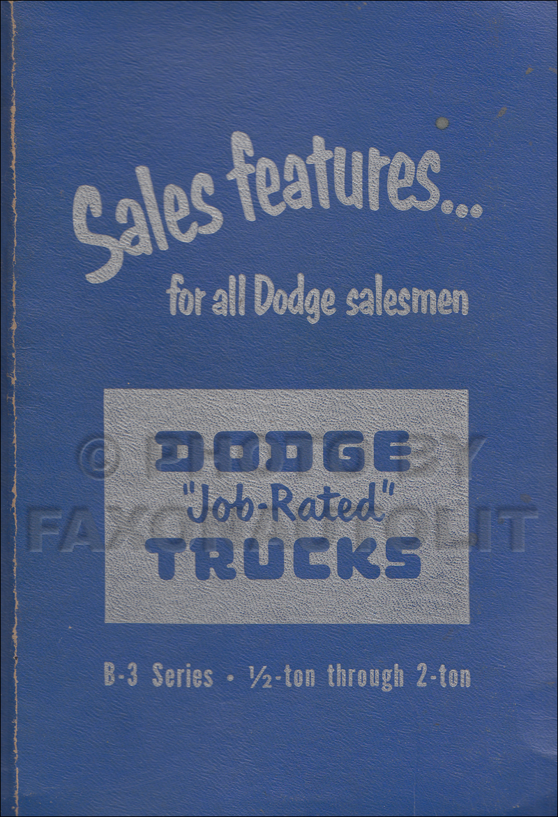 1951 Dodge Truck Data Book Original
