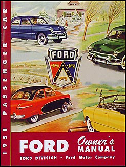 1951 Ford Car Owner's Manual Reprint