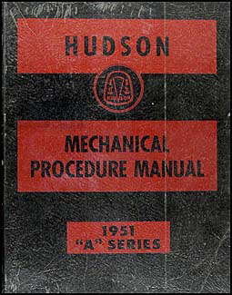 1951 Hudson Shop Manual Original