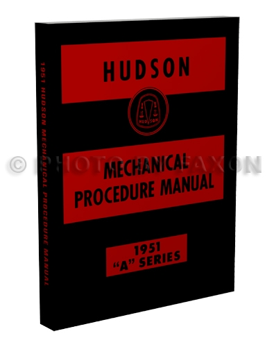 1951 Hudson Shop Manual Reprint 51