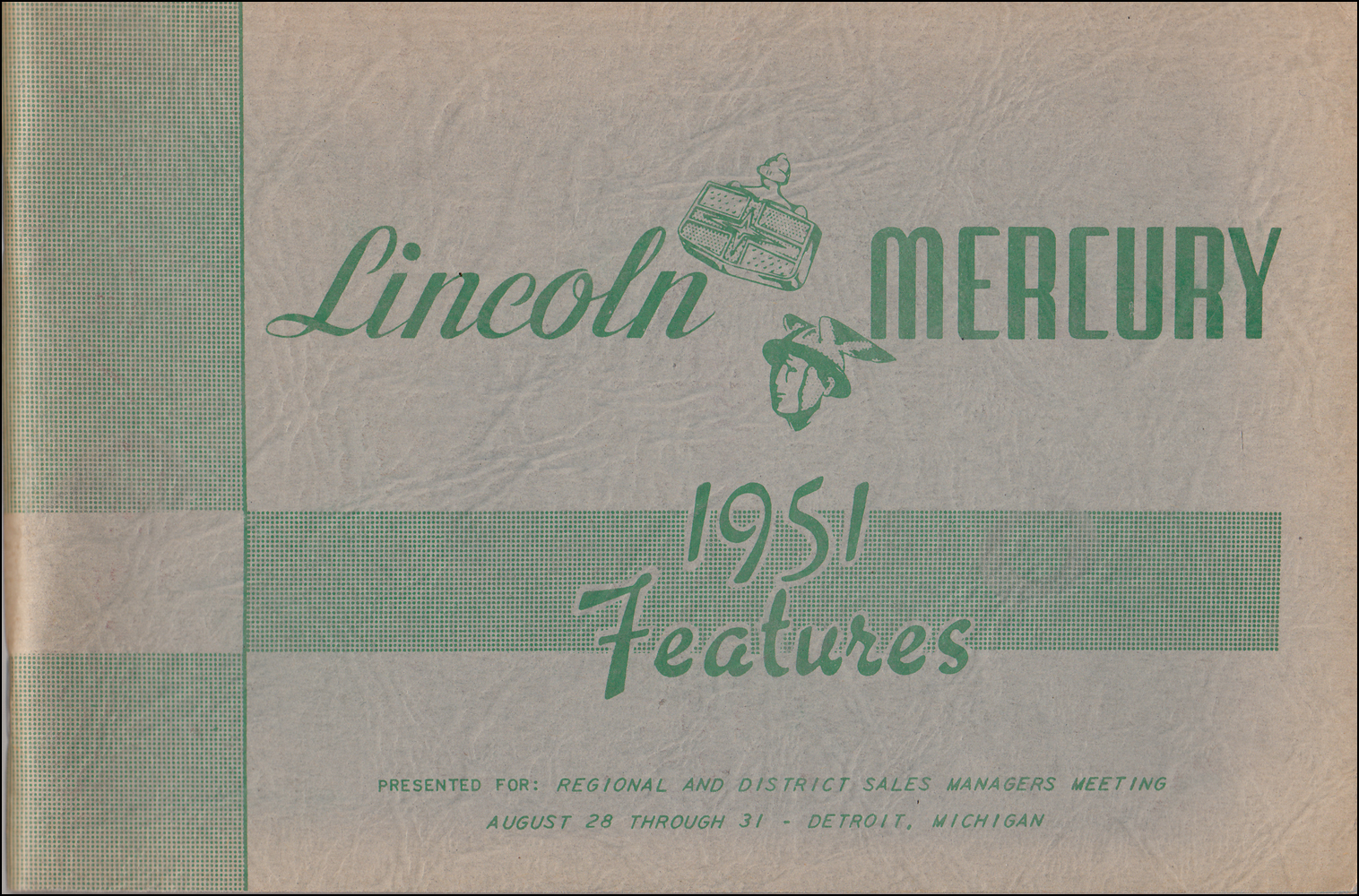 1951 Lincoln/Mercury Engineering Features Dealer Album Original