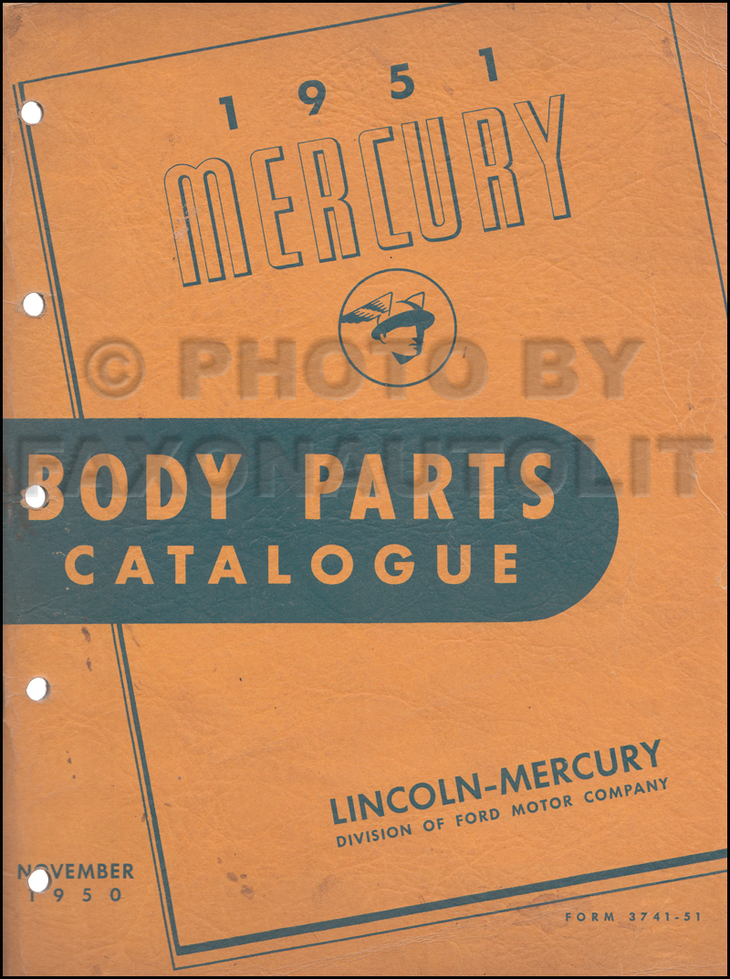 1949-1950-1951 Mercury CD Repair Shop Manual & Illustrated Parts Books  $49.95. More Info · 1951 Mercury Body Parts Book Original $39.00