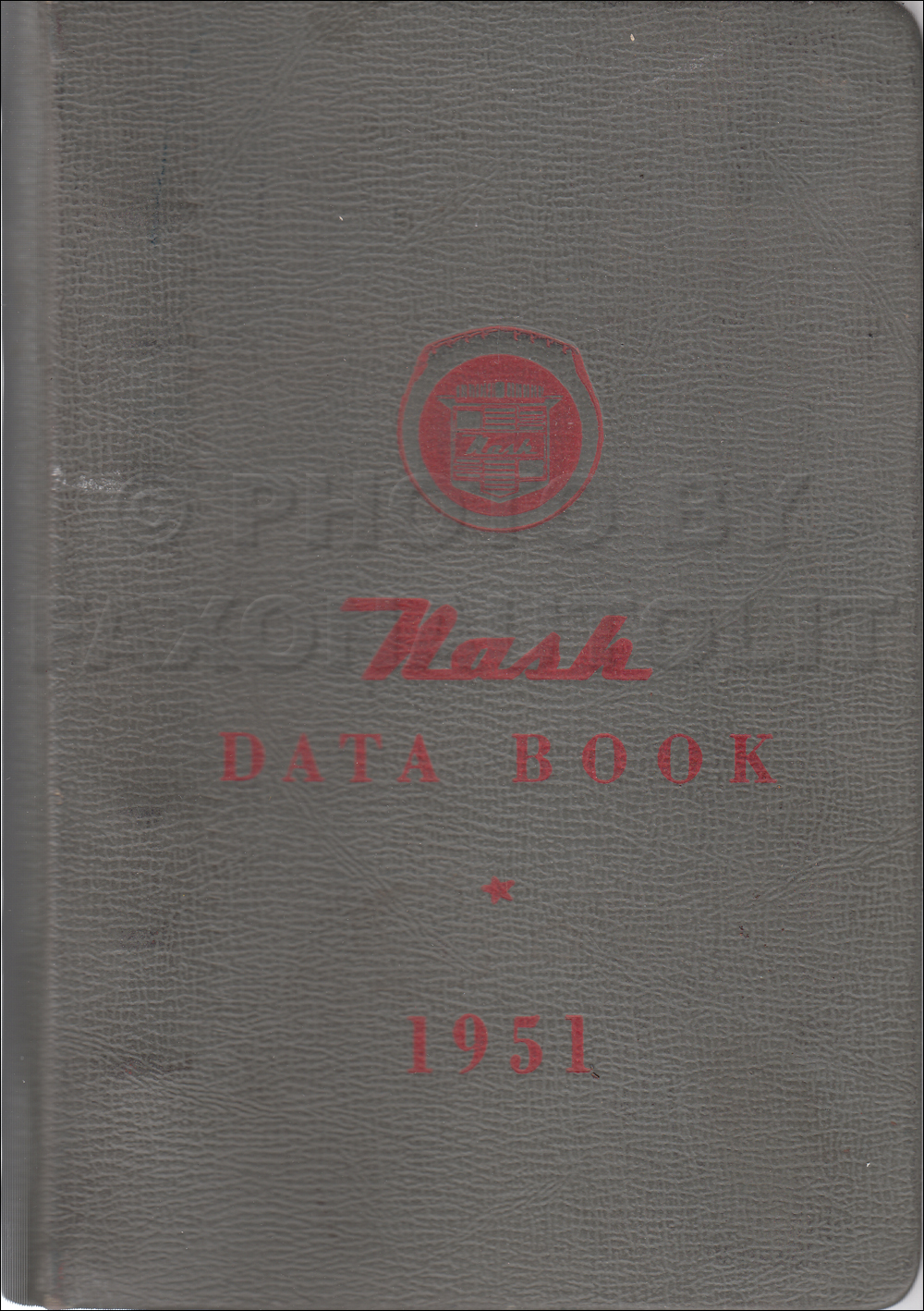 1951 Nash Data Book Original