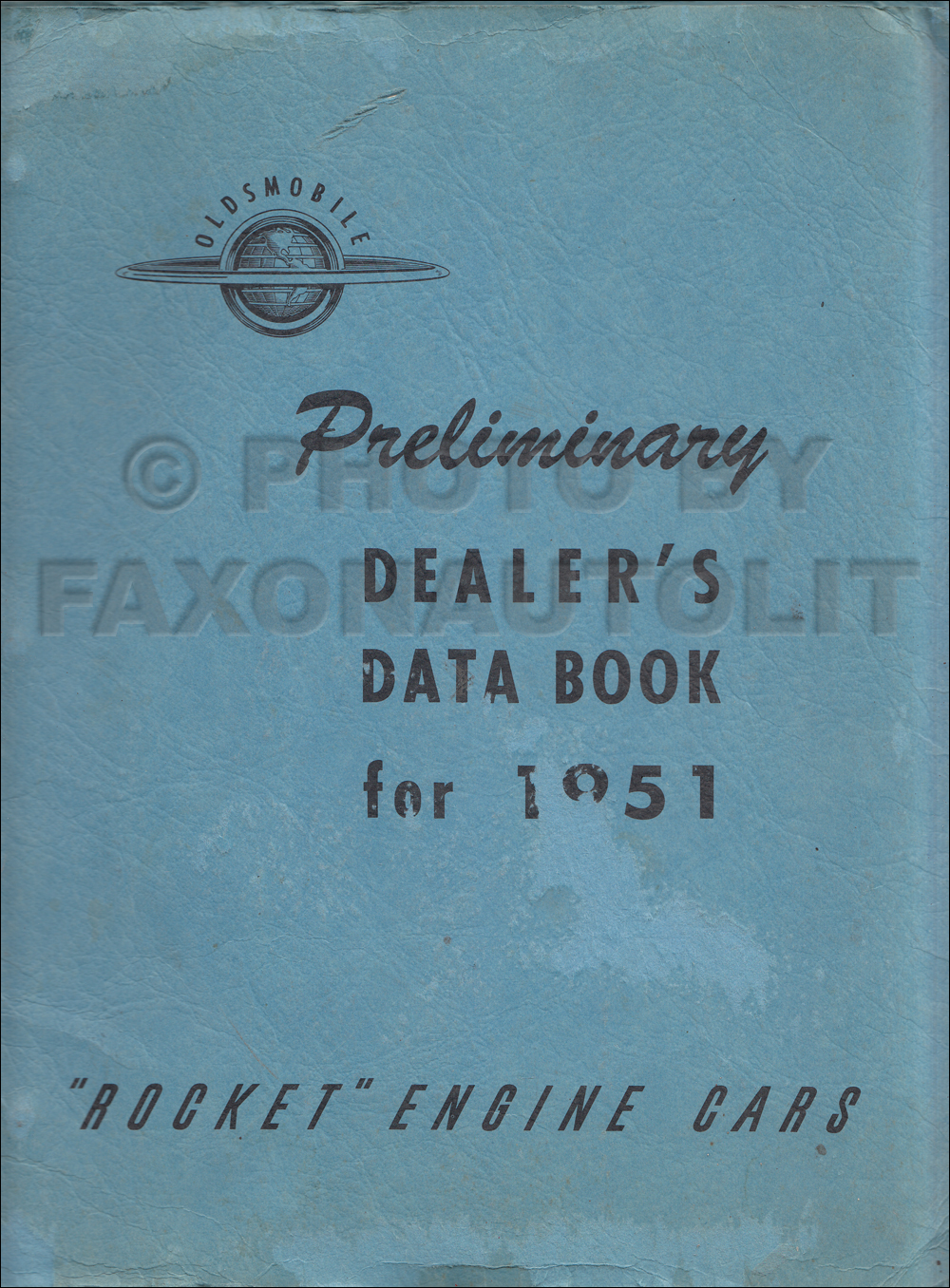 1951 Oldsmobile Dealer Data Book Original Preliminary