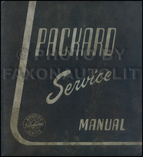1938-1939 Packard Shop Manual Original - All Models