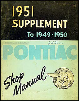 1951 Pontiac Shop Manual Original Supplement to 1949-1950