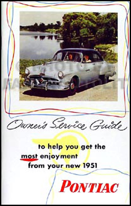 1951 Pontiac Owner's Manual Reprint