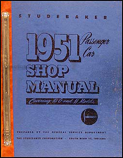 1951 Studebaker Car Shop Manual Original