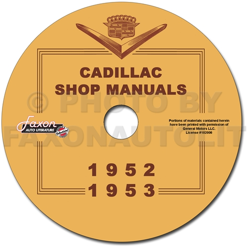 1952-1953 Cadillac Shop Manuals on CD for all models 52-53