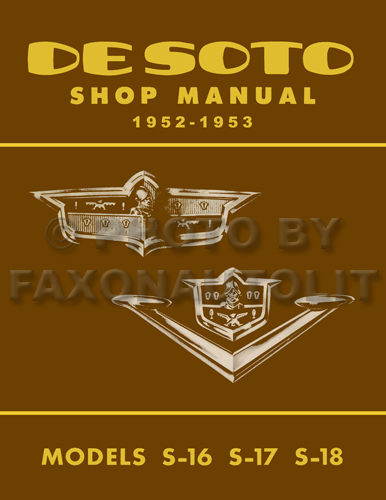 1952-1953 De Soto Shop Manual Original