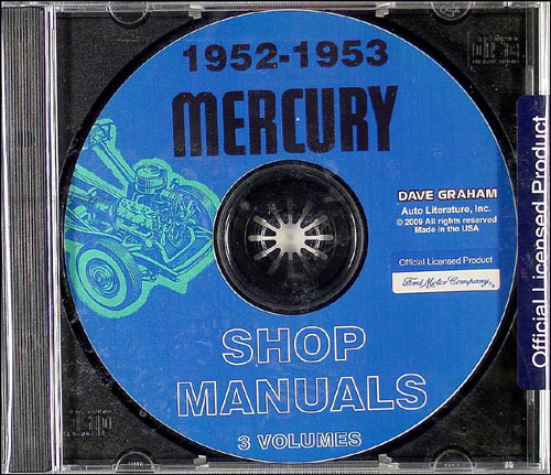 CD-ROM 1952-1953 Mercury Shop Manual Set