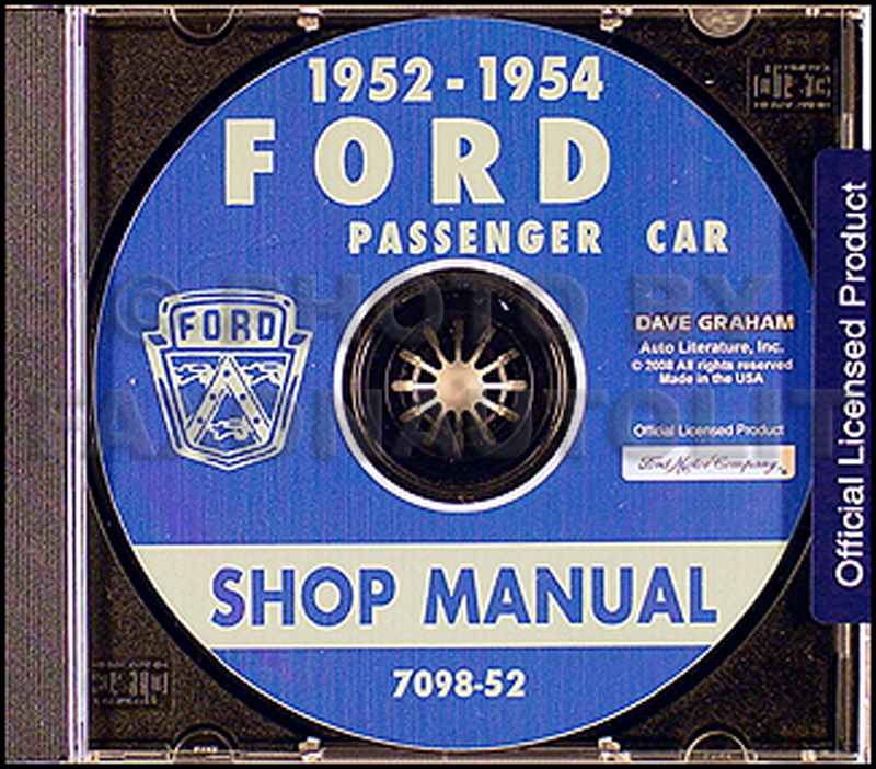 1952-1954 Ford Car CD-ROM Shop Manual
