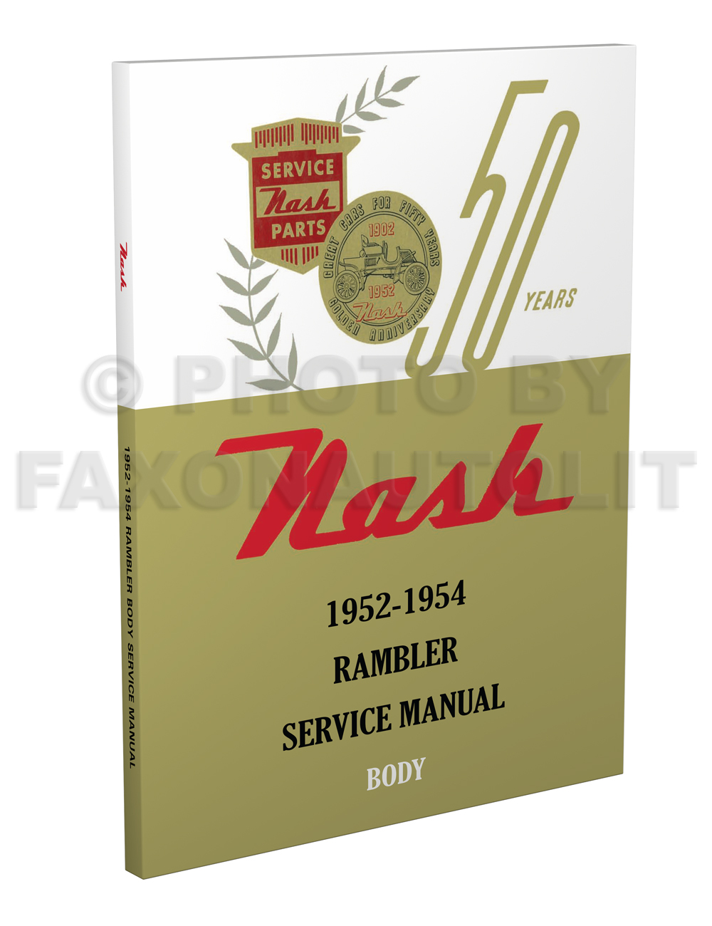1952-1954 Nash Body Manual Reprint Rambler