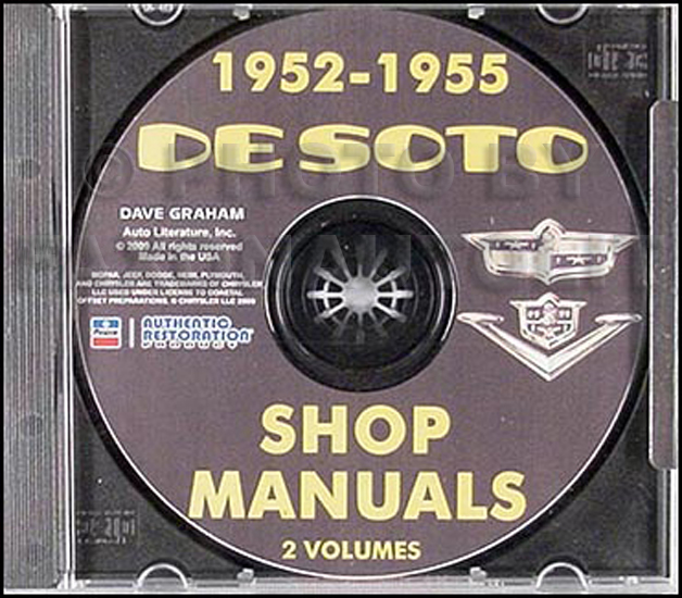 1952-1955 De Soto Shop Manual on CD