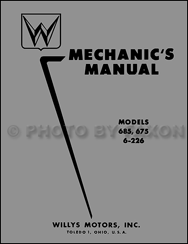 1952-1955 Willys Car Repair Manual Reprint