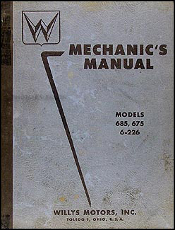1952-1955 Willys Car Repair Manual Original