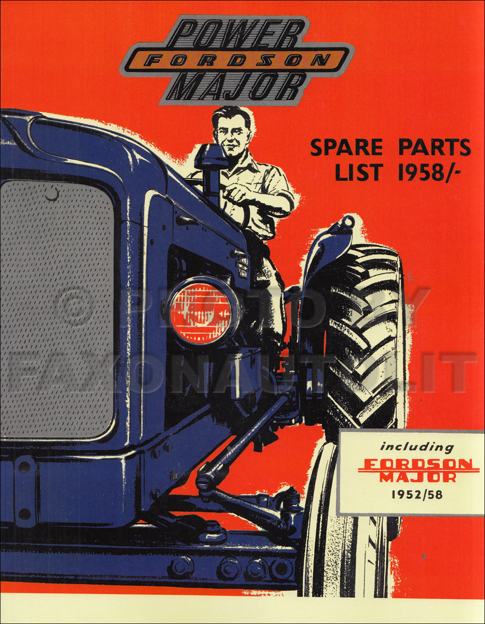 1952-1961 Fordson Major and Power Major Tractor Illustrated Parts Book Reprint
