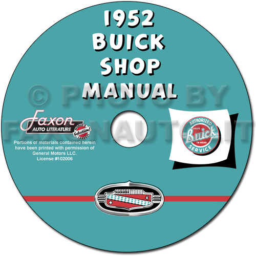 1952 Buick CD-ROM Shop Manual for all models