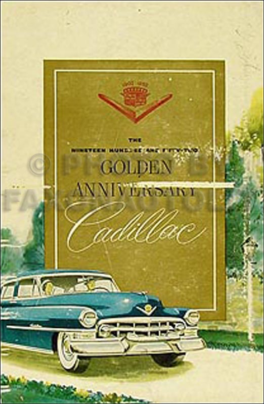 1952 Cadillac Data Book Original