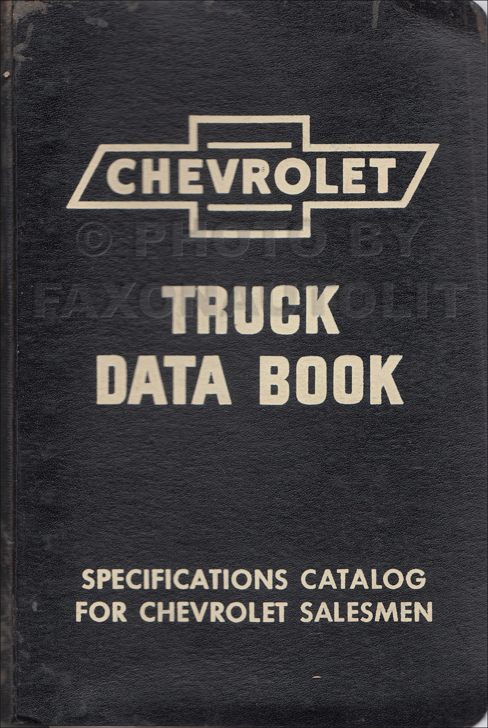 1952 Chevrolet Truck Data Book Original