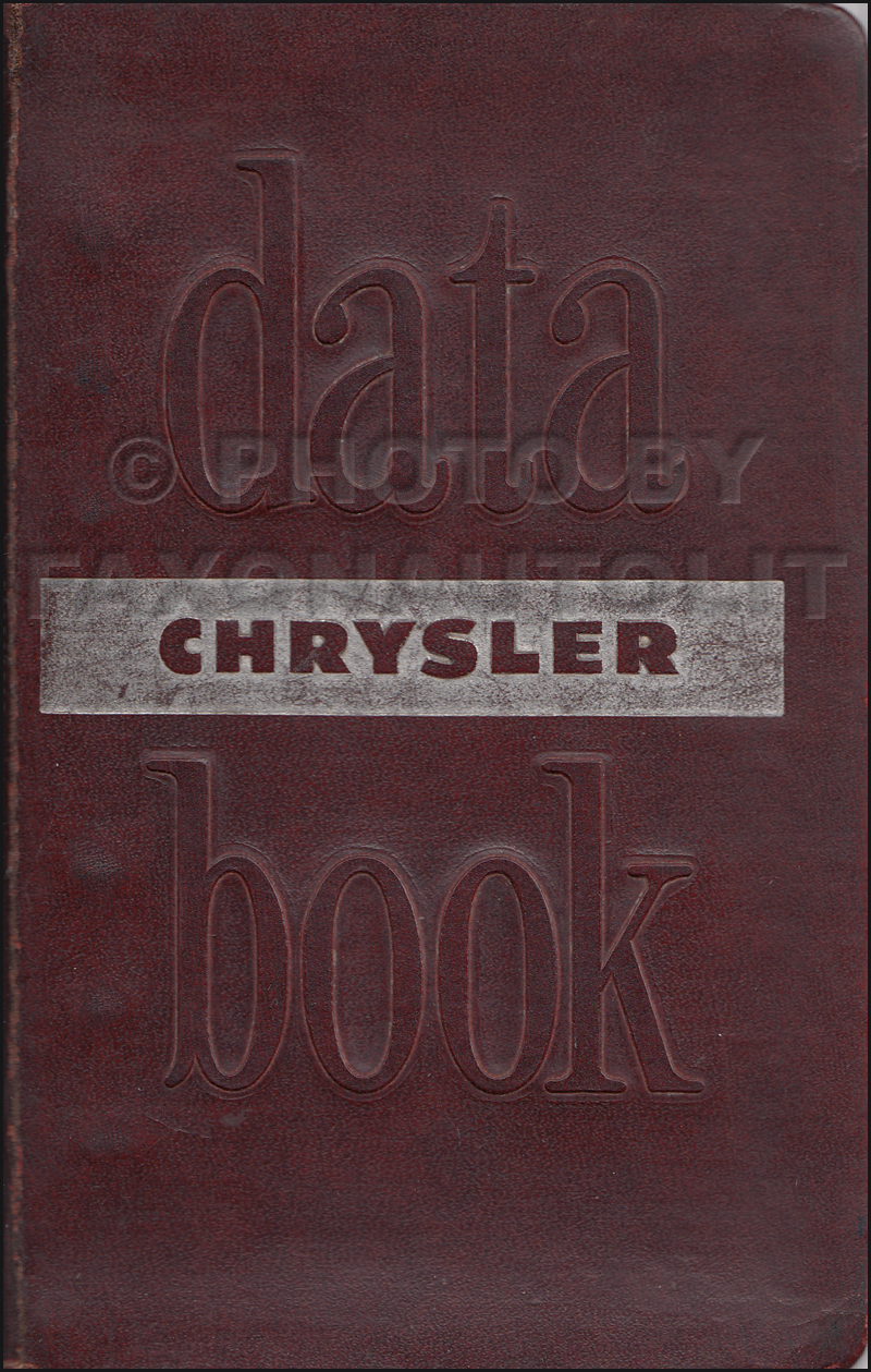 1952 Chrysler Data Book Original