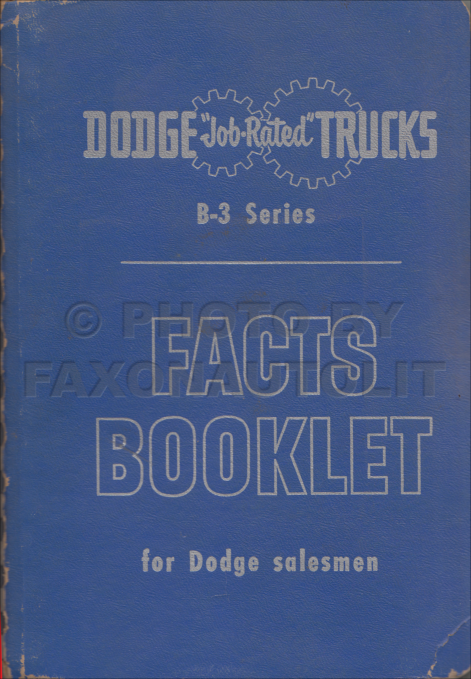 1952 Dodge Truck Data Book Original