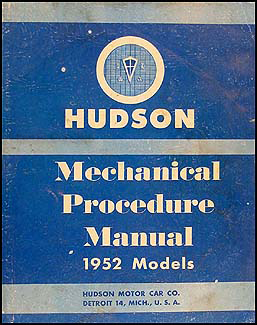 1952 Hudson Shop Manual Original