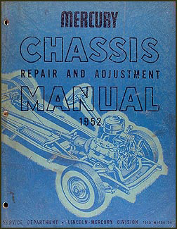 1952 Mercury Mechanical Repair Shop Manual Original