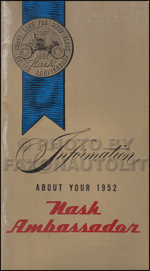 1952 Nash Ambassador Owner's Manual Original