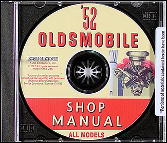 1952 Oldsmobile CD-ROM Shop Manual