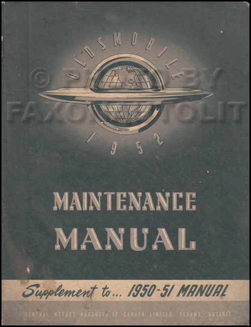 1950-1951 Oldsmobile CANADIAN Repair Manual Original